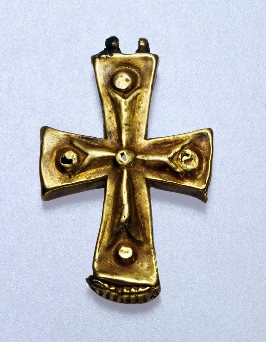 Gold cross-reliquary