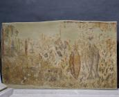 Detached tomb wall painting depicting material goods (fatling, heart, liver, hams and two big fishes) that allude to the Paradise that the deceased desired, 1st quarter of the 4th c.