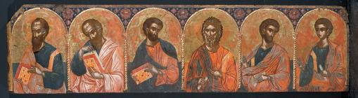 Part of the iconostasis from the church of Saint Athanasios. This has been attributed to Frangos Katelanos from Thebes, the main representative of the second important school of painting of this period, that of north-western Greece