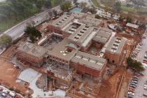 Aerial photo of the Museum's construction