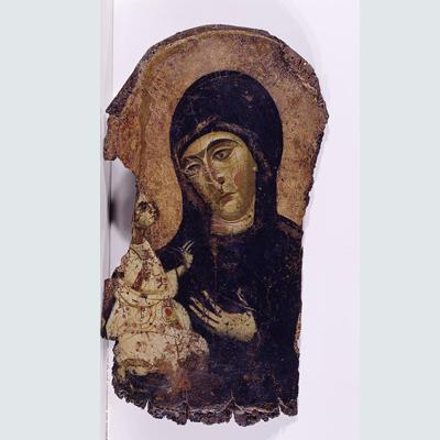 Virgin Dexiokratousa (holding Christ with her right hand)