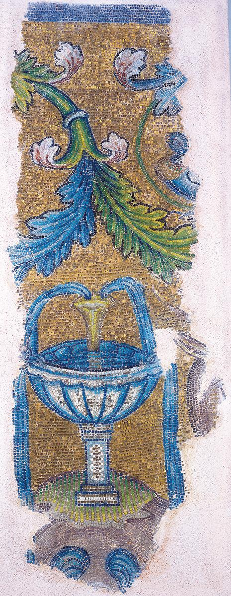 Fragment of a mural mosaic