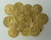Hoard of golden coins of the emperors Basil II (976-1025), Romanus III (1028-1034) and Constantine IX (1042-1055)